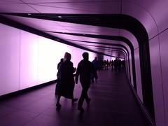 UK - London - Lumiere 2018 - King's Cross - Underground (JulesFoto) Tags: uk england london lumiere2018 lightinstallation artwork kingscross tunnel