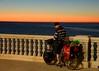Travelling  lightly... (Raquel Borrrero) Tags: by sea paseo maritimo bicicleta bike travel viaje cádiz sky cielo sunset atardecer españa spain nikon d3200 bici océano ocean puesta de sol mar playa agua water andalucía twilight anochecer