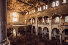 When Lucifers accomplice is the only one sleeping in church.. (Mini-UE || Mini-Photography) Tags: religion urbex abandoned decay church lost faded sun light explore urban lucifer