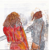 # 255 2018-01-20 (h e r m a n) Tags: herman illustratie tekening 10x10cm tegeltje drawing illustration karton carton cardboard kunst art back rug rucke ruggenfiguur ruckenfigur tweevrouwen twowomen museumvisitor museumbezoeker museum den bosch noord brabant noordbrabantsmuseum exposition expo expositie exhibition tentoonstelling