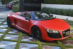 red audi r8 sports car (Exotic & Luxury Cars) Tags: audir8 r8 audi red sportscar exoticcar 777exotics exotic rental car luxury supercar 2900srobertsonblvd