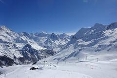 Zinal (corinne emery) Tags: zinal snow hiver winter neige ski piste valais wallis blu