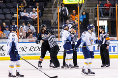 "Kansas City Mavericks vs. Toledo Walleye, January 19, 2018, Silverstein Eye Centers Arena, Independence, Missouri.  Photo: © John Howe / Howe Creative Photography, all rights reserved 2018. • <a style=""font-size:0.8em;"" href=""http://www.flickr.com/photos/134016632@N02/39839185491/"" target=""_blank"">View on Flickr</a>"