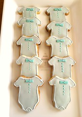 Gray and Baby Blue Baby Shower Desserts (SweetToothDesserts (Carsedra)) Tags: babyshower cake pops atlantacakes onesie cookies