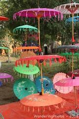 Colourful Parasols - Mandalay Myanmar (WanderingPhotosPJB) Tags: myanmar burma umbrella parasol 7dwf mandalay multicoloured colourful