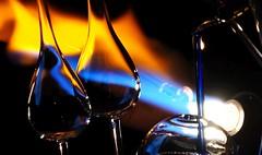 Glassblowing (G_E_R_D) Tags: macromondays flame flamme glasbläserei glassblowing glasbläser glassworks