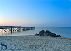 Walnut Beach Pier and pipeline (Singing With Light) Tags: 2017alpha6500 26th 27th milford mirrorless nyc singingwithlight sonya6500 waslnutbeach august photography singingwithlightphotography sony sunrise