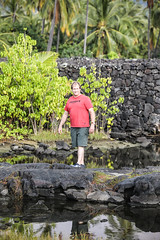 David at Makaloa Pools (wyojones) Tags: puuhonuaohōnaunaunationalhistoricalpark pu'uhonua placeofrefuge hawaii bigisland makaloapools brackishwater ponds pools anchialineponds tides makaloa sedge mats undergroundsprings family david
