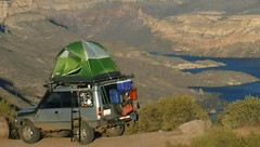 Land Rover (Donald Palansky Photography) Tags: lake arizona apachelake discovery 4x4 camping cars