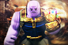 LEGO Avengers: Infinity War - Thanos Preview (MGF Customs/Reviews) Tags: lego marvel avengers infinity war thanos gauntlet custom figure minifigure josh brolin