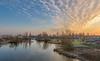 Sunrise (Kees499  Nature pics) Tags: alblasserwaard kinderdijk windmills colors sunrise holland keesmolenaar luminar2018 d810 nikon 1635 cold ice belowzero sky clouds wolken kleuren