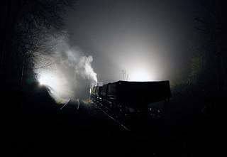 Rocks by Rail Night Scene ( in Explore )