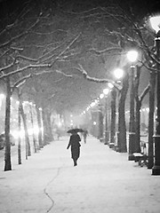 (nic0v0dka) Tags: woman girl snow neige paris