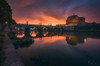 Cloud Face (Fran4Life) Tags: rome italy italia roma castle castel sant angelo river tevere eternal face clouds sunset sunlight glow beautiful fran4life history bridge architecture