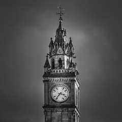 Architecture series - 8 (Dhina A) Tags: sony a7rii ilce7rm2 a7r2 fe 24105mm f4 sonyfe24105mmf4 zoom lens bokeh sharp fine art architecture buildings black white bw albert clock belfast