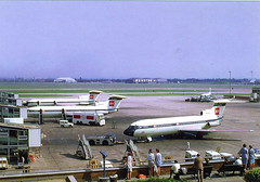 Heathrow (Neil F King) Tags: airplane airliner aircraft airport trident bea postcard heathrow hawker siddeley londonairport