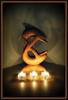 Licht & Schatten (bernstrid) Tags: licht schatten skulptur holz kerze rahmen fx