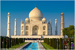 Taj Mahal (nikhil_mr) Tags: tajmahal architecture mughal sevenwonders symbol love shajahan mumtaz empire agra fort india newdelhi pride history unforgettable travel must see
