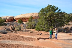 The Kids On The Pothole Point Trail (Joe Shlabotnik) Tags: nationalpark utah violet hiking 2017 canyonlands everett november2017 canyonlandsnationalpark afsdxvrzoomnikkor18105mmf3556ged