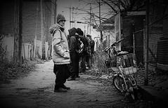 Windsor, Ontario (L55ZJNIT6B2KYV5V62Z4HAWSXZ) Tags: alley street urban monochrome kodak rangefinder bw film scanned zeissikon