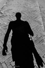 Un'ombra di fotografo (frillicca) Tags: 2011 agosto august autoritratto bn bw biancoenero blackandwhite flooring fotografo monochrome monocromo nikon nikond300 ombra pavimentazione selfportrait selfie shadow sigma1770mmf28 simone sovanavt strada street