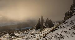 The old man (Katherine Fotheringham) Tags: old man storr scotland isle skye snow storm light sunrise