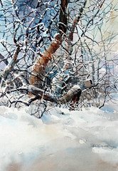 PurcellCarl. WinterTangle (purcell art) Tags: watercolor