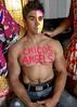 IMG_9900 (danimaniacs) Tags: shirtless hunk man guy chicosangels dukeshoman diadelosmuertos dayofthedead torso muscles pecs makeup