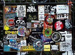 HH-Sticker 2252 (cmdpirx) Tags: hamburg germany reclaim your city urban street art streetart artist kuenstler graffiti aerosol spray can paint piece painting drawing colour color farbe spraydose dose marker stift kreide chalk stencil schablone wall wand nikon d7100 vinyl foil folie mail post paket sticker aufkleber combo trading glue kleber klebchen klebstoff cement handdrawn handpainted handgemalt handmade
