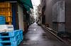 Back Alley Secrets (Blue Nozomi) Tags: vending machine tokyo japan tsukiji alley rain wet road backstreet
