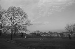 Morning, Sunset Park, Brooklyn (josephkrings) Tags: 1stavenue brooklyn greenwoodcemetery ilfordhp5 newyork nikkor28105mm13545 nikonn70 sunsetpark blackandwhite excercise park