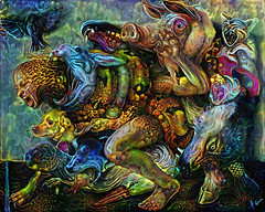 Kermese animal (cirooduber) Tags: deepdream awardtree ostagram digitalarttaiwan trollieexcellence visualart animals crazy surrealism