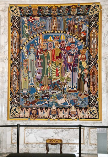 Christiansborg Palace Copenhagen Colorful Tapestry