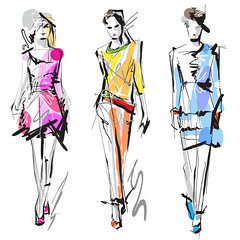 Fashion models. Sketch. (jusartine) Tags: model women fashion female girl handdrawn vogue art brush casual clothes clothing collection contour demonstration diva entertainment fashionable flirting freehand glamour graphic illustration ink lady lifestyle line mannequin outline painting people person podium posing sexy silhouette sketch skirt spring staying summer supermodel top vector walking watercolor young russianfederation