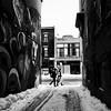 Ces regards cachés au fond des ruelles... (woltarise) Tags: ruelle plateau montroyal graphic art passants montréal streetwise