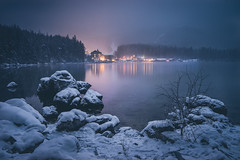 Good Night, Little Lake (--StadtKind--) Tags: sonyfe2470mmf28gm longexposure germany bavaria vollformat fullframe sonyilce7m2 alphaddicted sonyalpha stadtkind naturephotography nature landscapephotography landscape landschaft winterwonderland winter hotel mountains lakeside lake