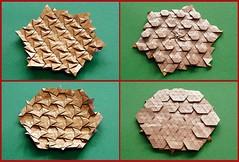 Basics (De Rode Olifant) Tags: marjansmeijsters origami tessellation hexagon triangle basics paper paperfolding pattern
