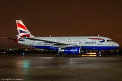 British Airways G-EUOA HAJ at Night (U. Heinze) Tags: aircraft airlines airways haj hannoverlangenhagenairporthaj eddv planespotting plane flugzeug nikon night