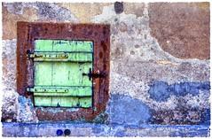 Shut Shutter  08 (Michael J. Woerner) Tags: detail old crumbling farmhouse shutter facade broken rotted ruin rotten window closed