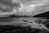 Cuillin Hills seen from Elgol Beach (Tim&Elisa) Tags: scotland cuillinhills isleofskye elgolbeach elgol beach hills cuillin landscape seascape atlanticocean water longexposure canon nature clouds mist rocks geology blackandwhite blackwhite