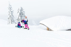 kids by a laavu in Tahko slopes (VisitLakeland) Tags: slopes downhill slalom friends kid children ski hill laavu talvi winter snow tree fireplace campfire white laskettelu rinne mäki