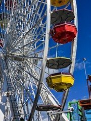 All The Fun Of The Fair (gecko47) Tags: ferriswheel carnival funpark ride entertainment vivid santamonicapier california tourism pacificpark
