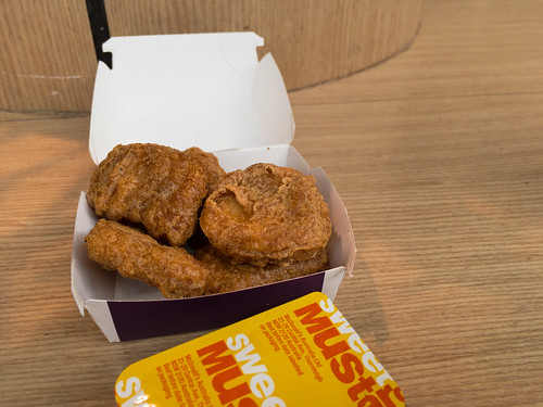 Sunday lunch. McDonalds McNuggets and mustard.