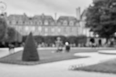 Place des Vosges, Paris (bm^) Tags: city parijs frankrijk de france zwartwit bw blackwhite nikon d700 nikond700 zf2 distagont228 distagon282zf fr marais street parc plein park square sitting place voges placedesvosges vosges