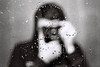 Dripping self portrait (elmahiko) Tags: selfie selfportrait canona1 canonfd blackandwhite bw bwfilm bwportrait focus manualfocus grayscale monochromatic monochrome drops waterdrops water mirror