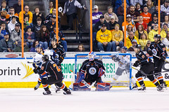 "Kansas City Mavericks vs. Toledo Walleye, January 20, 2018, Silverstein Eye Centers Arena, Independence, Missouri.  Photo: © John Howe / Howe Creative Photography, all rights reserved 2018. • <a style=""font-size:0.8em;"" href=""http://www.flickr.com/photos/134016632@N02/25966332928/"" target=""_blank"">View on Flickr</a>"