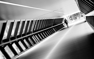 Adams Plaza Bridge in black and white: part 4