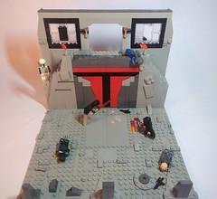 Darth Sidious vs Darth Maul on Mandalore (Legoswbr) Tags: darth sidious maul supreme chancellor emperor palpatine opress mandalore mandalorian moc star wars