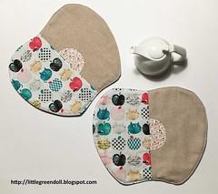 PATCH7403-Apple-place-mat (Silvia LGD (Little Green Doll)) Tags: crafts patchwork fabrics telas dashwoodstudio handmade hechoamano individual individuales mantelitoindividual placemat mugrug posavasos coaster linen lino