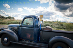 Close Encounter (HTT) (13skies) Tags: road driving passing drivingby truck sweet relic classic old older broom pickuptruck pickup moving countryside highway singleshothdr postprocessing sony summer cool antique